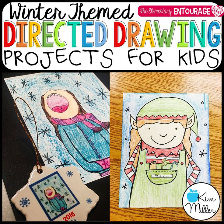 Winter Themed Directed Drawing Projects for Kids