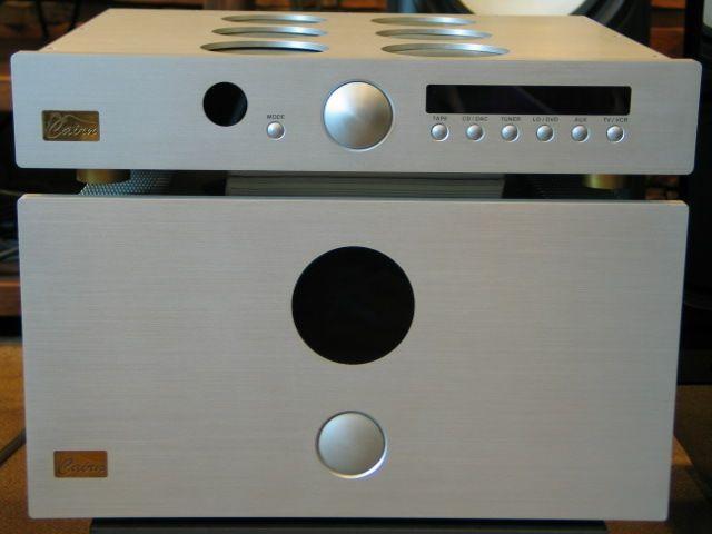 Faurio preampli et K ampli de double mono bloc, 50w en pure class A. CAIRN, la meilleur hifi audio de France.