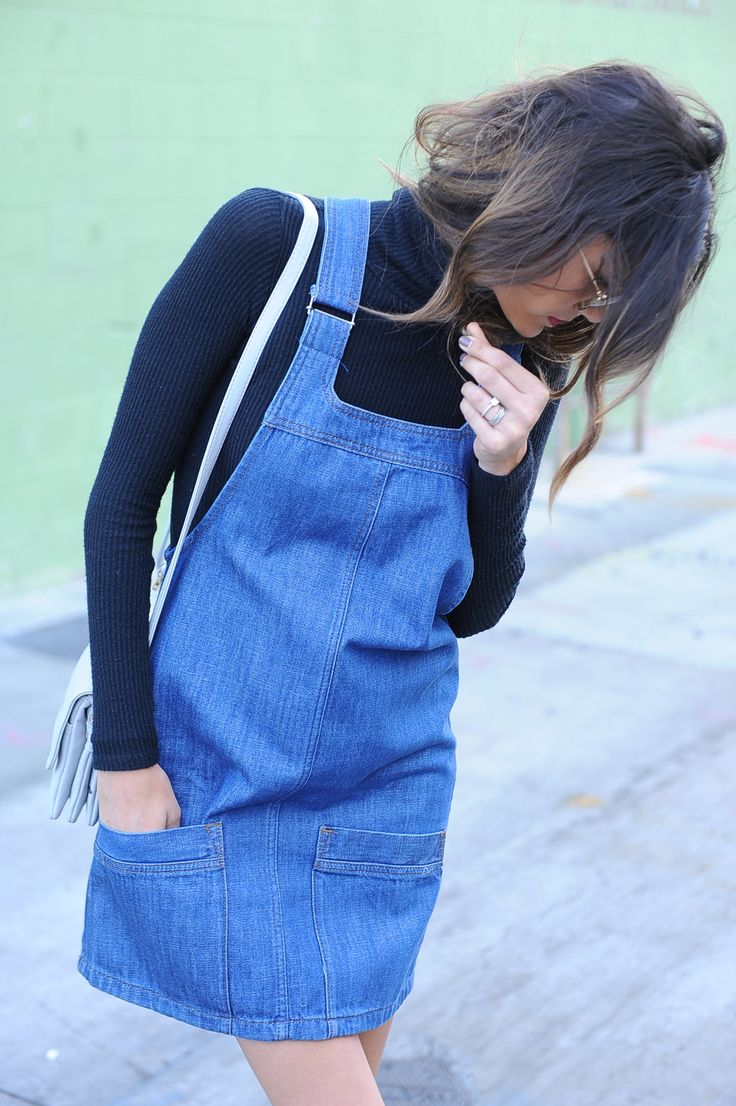TopShop Mini Pinafore_Denim Jean Jumper Dress_Chanel Loafers_Carly Kenihan_BunBunBook_3
