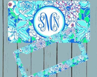 Front License Plate Lily Pulitzer Inspired License by simplycases