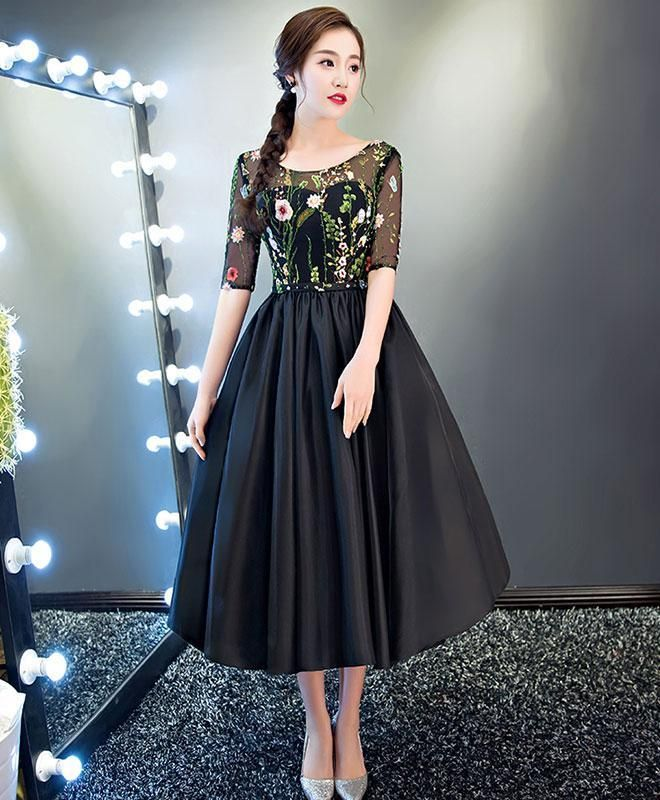 44f909292a0 Black tulle prom dress