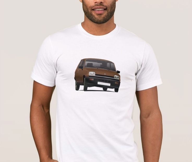 Classic Renault 5 from 80's.   #renault #renault5 #renaultr5 #tshirt #shirt #classiccars #illustration #carillustration #french #france #knappi #brown