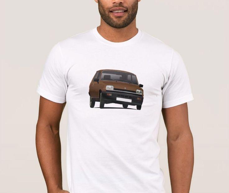 Classic Renault 5 from 80's.   #renault #renault5 #renaultr5 #tshirt #shirt #classiccars #illustration #carillustration #french #france #knappi #brown