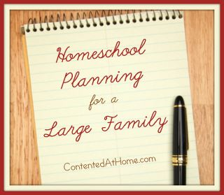 Homeschool Planning for a Large Family #homeschool #largefamily