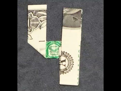 Fold Origami Dollar Bill Number 4 – #bill #dollar …
