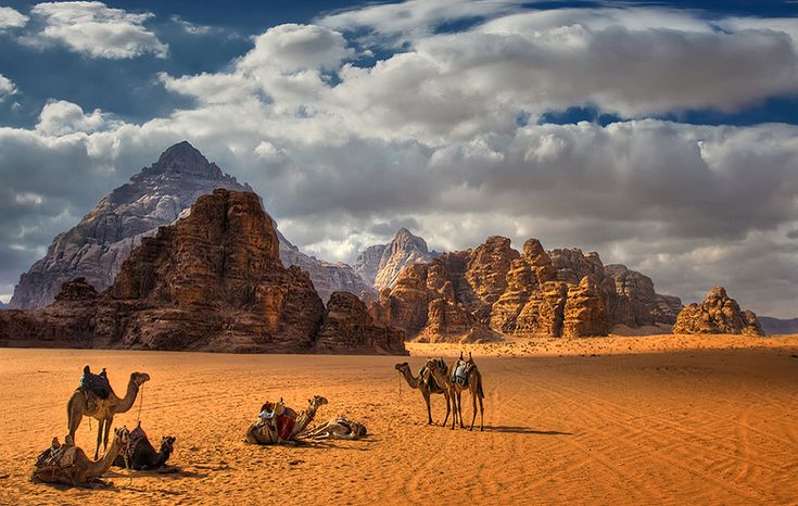 On the Silk Road, Petra was an important site for these merchants).  (Fields full of desert, Wadi Rum, Jordan.  Photo: Robertino Kotev - rokoko, via 500px