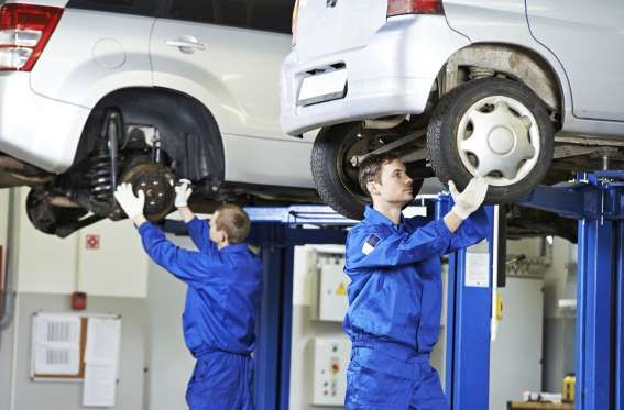 Auto service chain Pep Boys offers five free services: battery tests, code retrieval, windshield wiper. and Advance Auto Parts, oil battery recycling, loaner tools