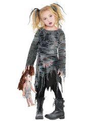Little Girls Undead Walker Zombie Costume