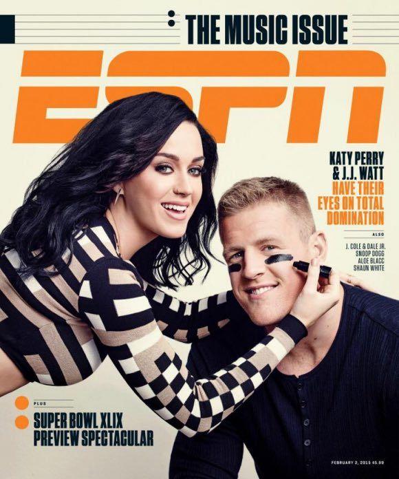 Katy Perry, JJ Watt ESPN The Magazine cover preview