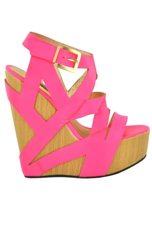 Oooooh: Bright Pink, Hot Pink Wedges, Color, Summer Shoes, Hot Pink Tops, Pink Shoes, Closet, Summer Wedges, Neon Pink