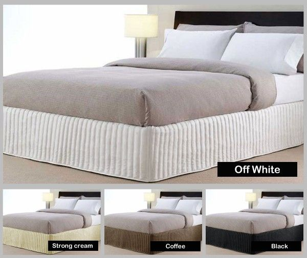 Accessorize your bed with this 100% Brand New quilted valance featuring a clean, solid-color design.