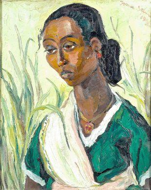 Irma Stern -  Malay Lady in green