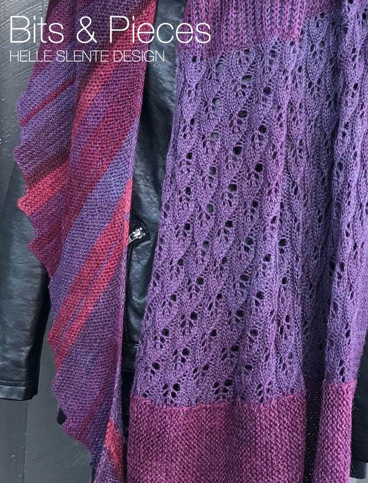 Bits & Pieces Shawl by HELLE SLENTE DESIGN   credit Monica Solberg Vaule   knitting pattern   Ravelry pattern   lace   brioche