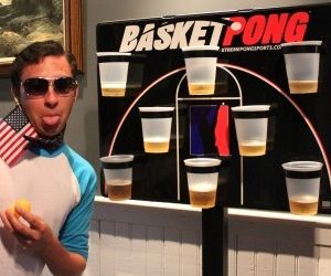 Basketpong combines two of the greatest games, basketball and beer pong. I can't think of too many better things to do with a friend late at night.