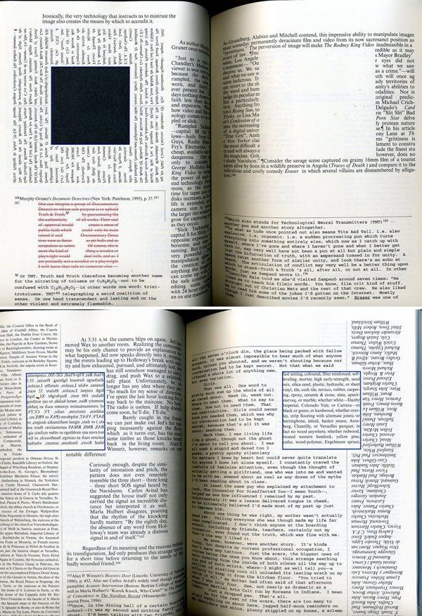 House of Leaves, Mark Z. Danielewski. Was one of the most exciting yet strangest pieces of lititure to read. He took ideas, and even words and paragraphs and manipulated them so to go along with the human mind and mood or situation in the story at that moment. Even, sometimes for reasons I couldn't see. He is defiantly an inspiration in my reading and writing.
