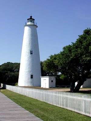 I have an affinity for lighthouses. Ocracoke Lighthouse is one of my favorites.  It's so sweet.
