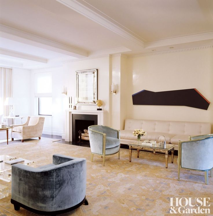 Haynes Roberts Inc A New York Based Interior Design Firm Has Used The Sconces 314 Signed By Jean Perzel To Brighten This Living Room Of An Apartment In