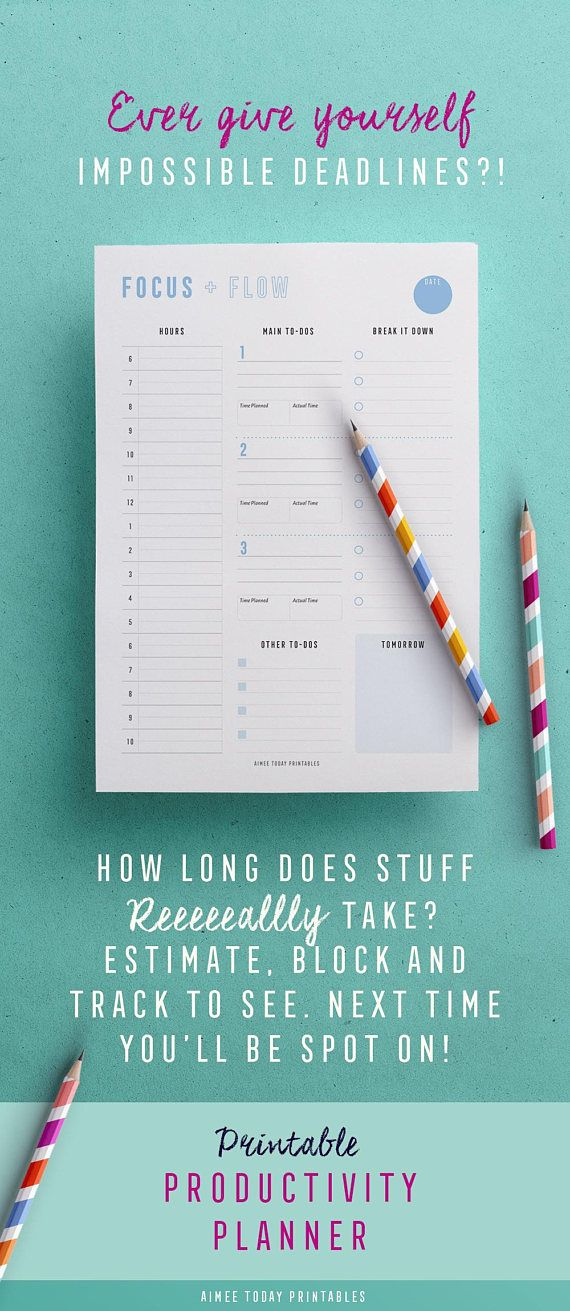 Love using this daily planner printable to get organised every day!