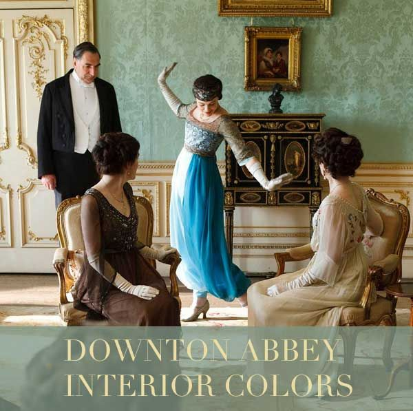 Downton Abbey Interior Colours #colour #inspiration #1920s #vintage #kitchendresser #DowntonAbbey