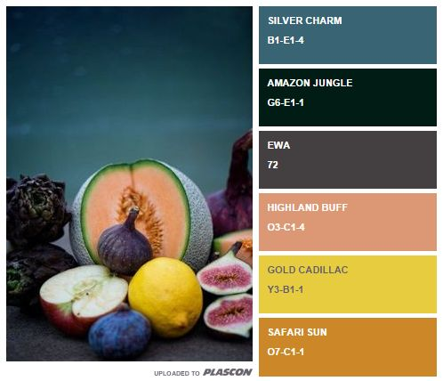 Fruit fiesta: summer food inspired swatch colours from Plascon http://plascontrends.co.za/summer-food-colour-inspiration-swatch-style/ #summer #colours