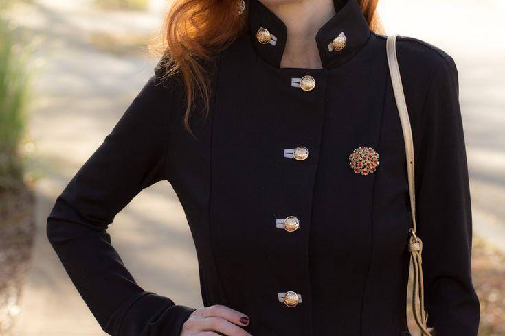 Turning Heads Linkup-Joseph Ribkoff Military Jacket Outfit - Over 40 Fashion Blog | Elegantly Dressed and Stylish - Over 40 Fashion Blog