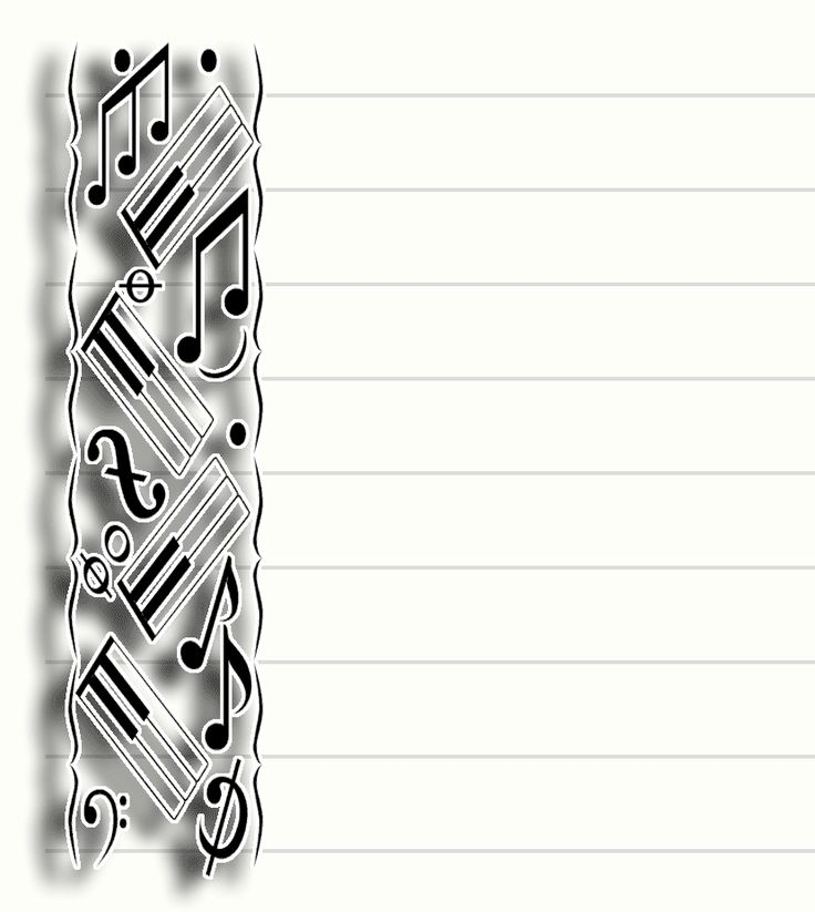 free printable music stationary  stationery