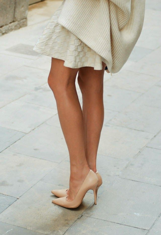 Kazar Nude Leather Pointed Toe Heels by Maffashion Nude Pointed Toe Heels  are up there together with black pointed.
