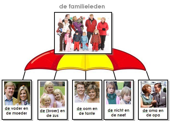 Woordkluster familie parachute