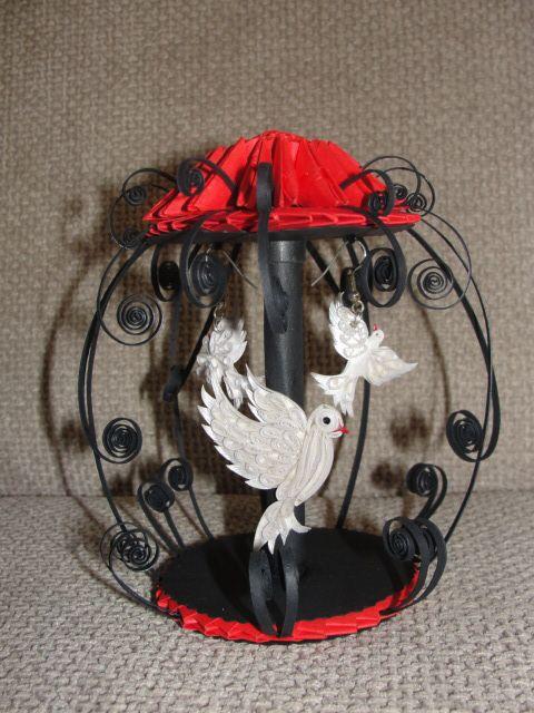 Quilled Birds/Birdcage
