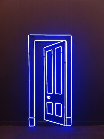 Add a door anywhere in your home with this neon light sculpture