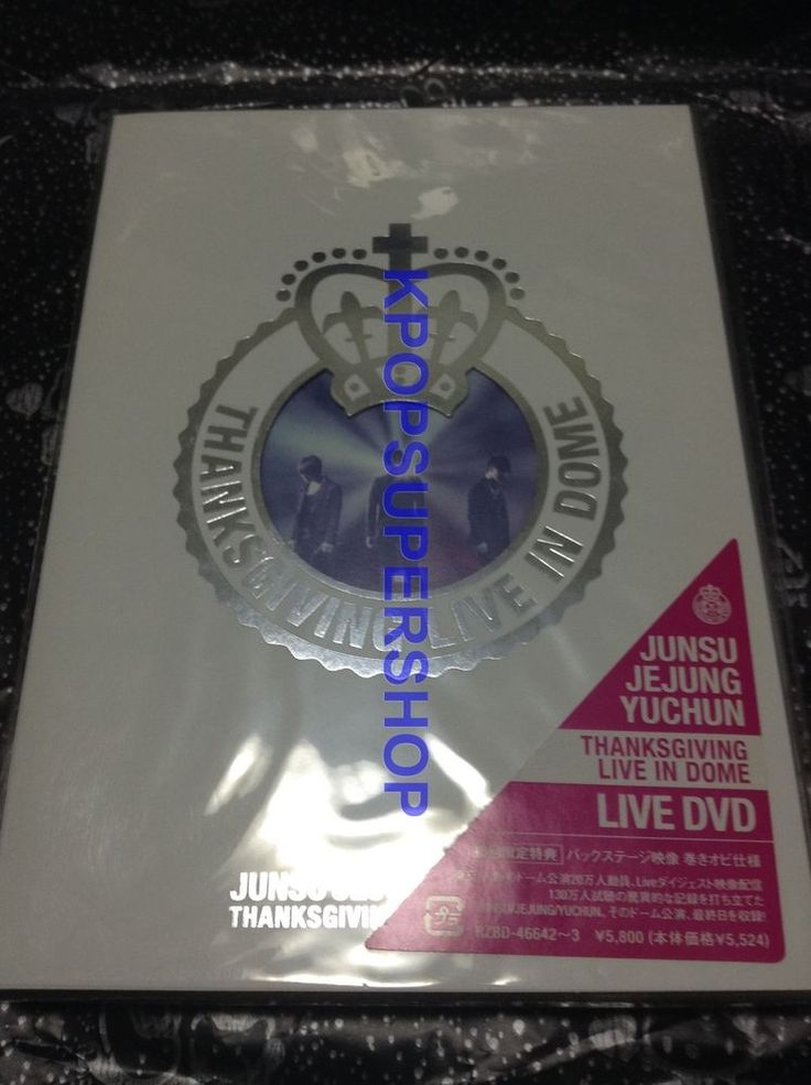 JYJ Thanksgiving Live in Dome First Press Japan Version OOP Tohoshinki XIA DBSK