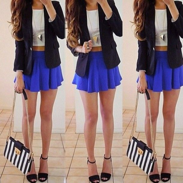 crop top with blazer clothes accessories amp outfit ideas