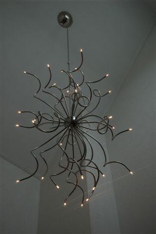 Vide Lamp met kniestuk voor schuin plafond