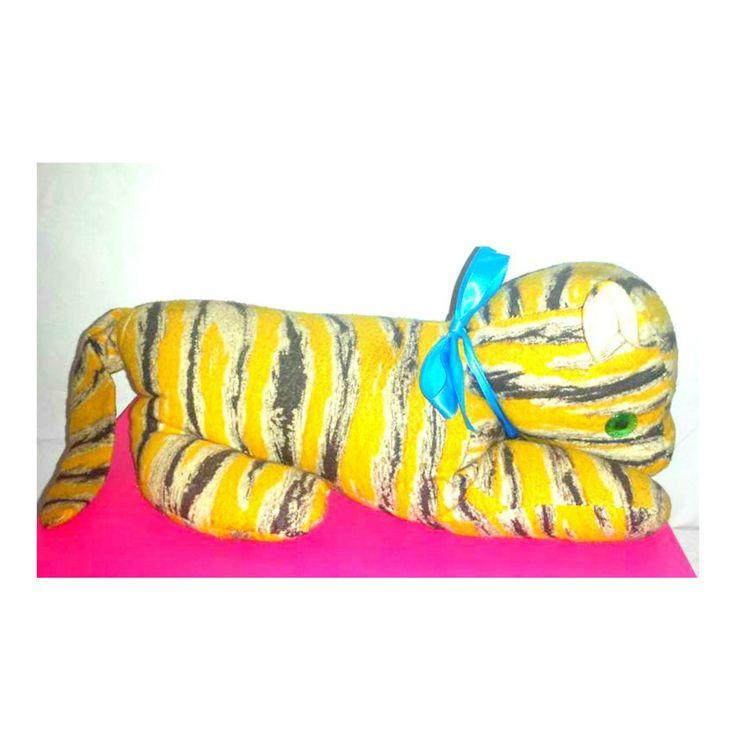 Vintage Stuffed Tiger,Tiger Plushie,Green Eyes, Laying Stuffed Tiger, Vintage Tiger, Bengal,Bengal Plush, Kitshy,Shelfie,Stripes,Collectible by JunkYardBlonde on Etsy #vintagetigerplush #vintagestuffedtiger #stuffedbengal #vintagetoys #vintageplush #stripedcat #tiger #bengal #kitschy