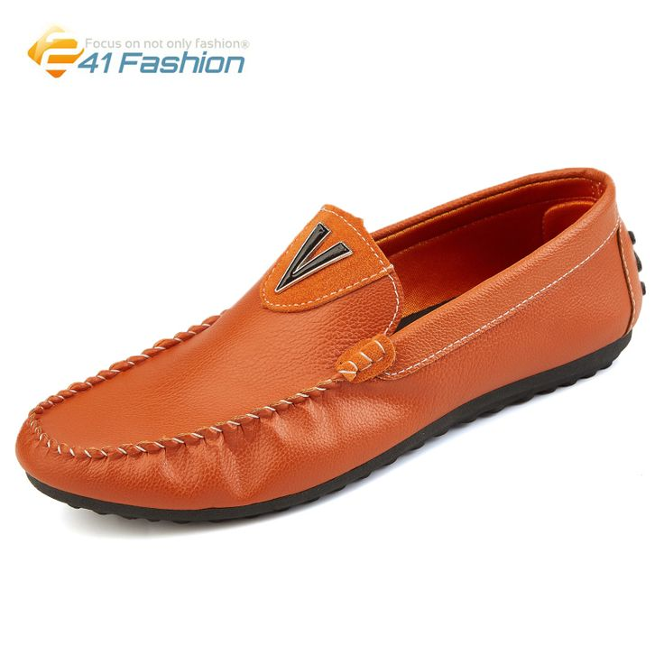 2017 Mens Spring Leather Shoes Flats Men Loafers Soft Shoes Moccasins Men Driving Shoes Comfort Slip On Mmoccasin-Gommino Shoes