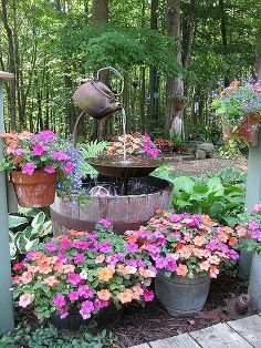 Here is my tea pot fountain in full bloom