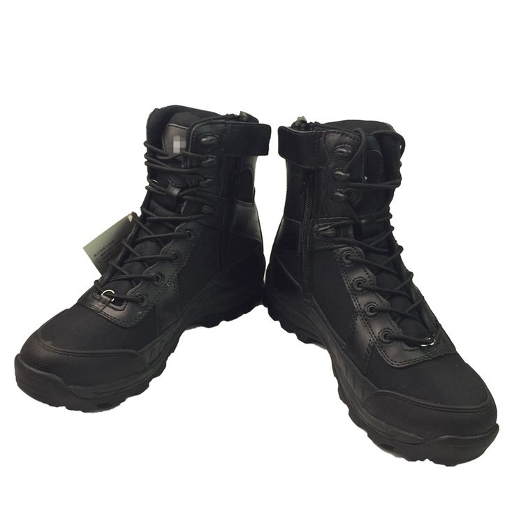 Zipper Military Desert Combat Boots Army Boots Breathable High Quality Ankle Boots Men EUR Size 39-45