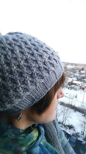 Diamondweave Hat pattern by Nancy Wilson | malabrigo Worsted in Plomo