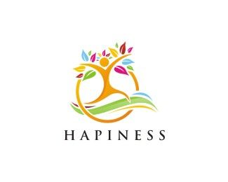 HAPINESS Logo design - Descriptions of cheerfulness Price $200.00