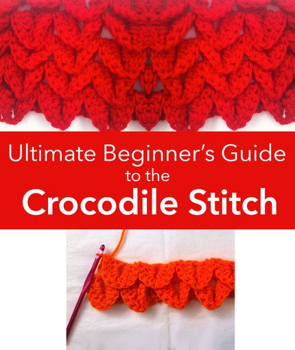 Ultimate Beginner's Guide to the Crocodile Stitch