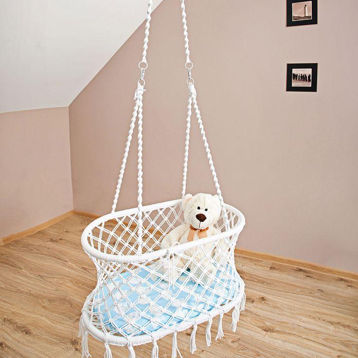 makramowa kołyska wisząca // macrame hanging crib