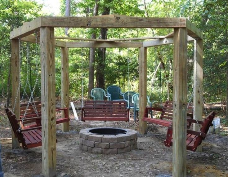 Cool fire pit circle porchswings firepitcircle porch for Cool porch swings