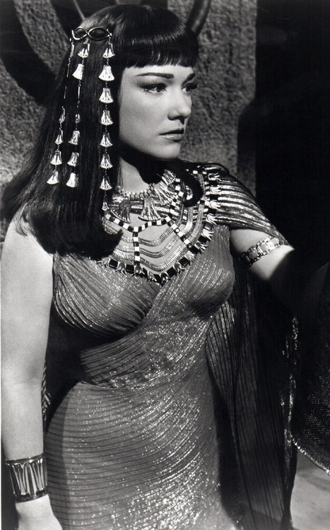 Anne Baxter in The Ten Commandments movie. that dress...hot damn.