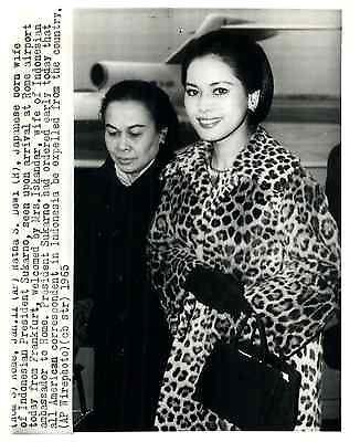 INDONESIE-President-Sukarno-Rata-S-Dewi-Lepouse-du-President-Sukarno