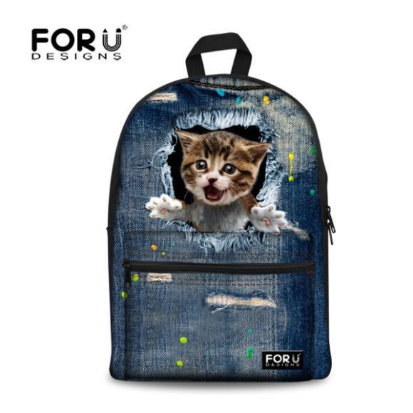 c0ae682bea6 New 2017 Kawaii Animal Cat Backpack for Girls Fashion Children School Bag  Cute Dog Backpack Cat