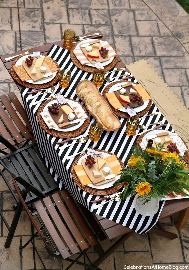 Entertaining : Welcome Fall with a Dinner Party Al Fresco - Celebrations at Home