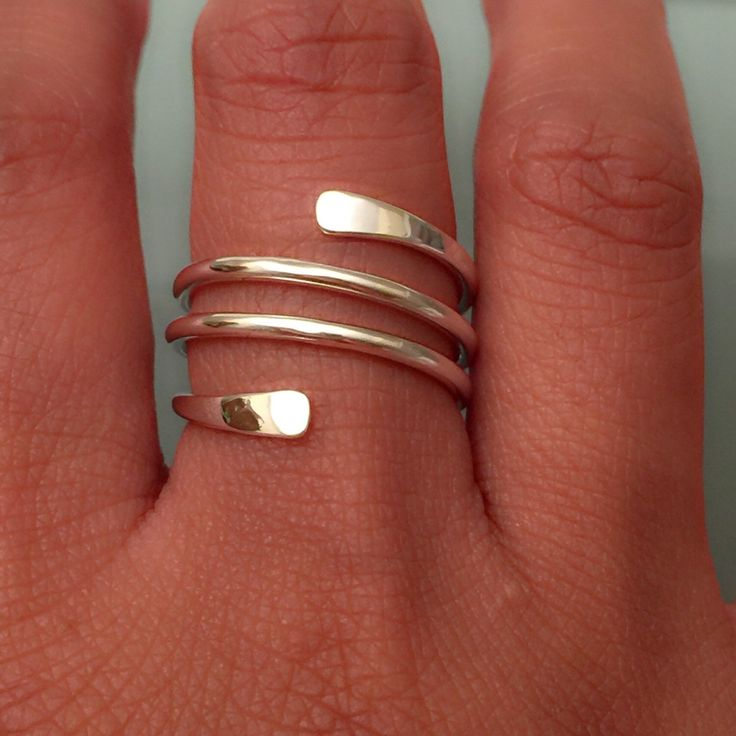 Sterling Silver Stack Ring by EllynBlueJewelry on Etsy https://www.etsy.com/listing/249684357/sterling-silver-stack-ring