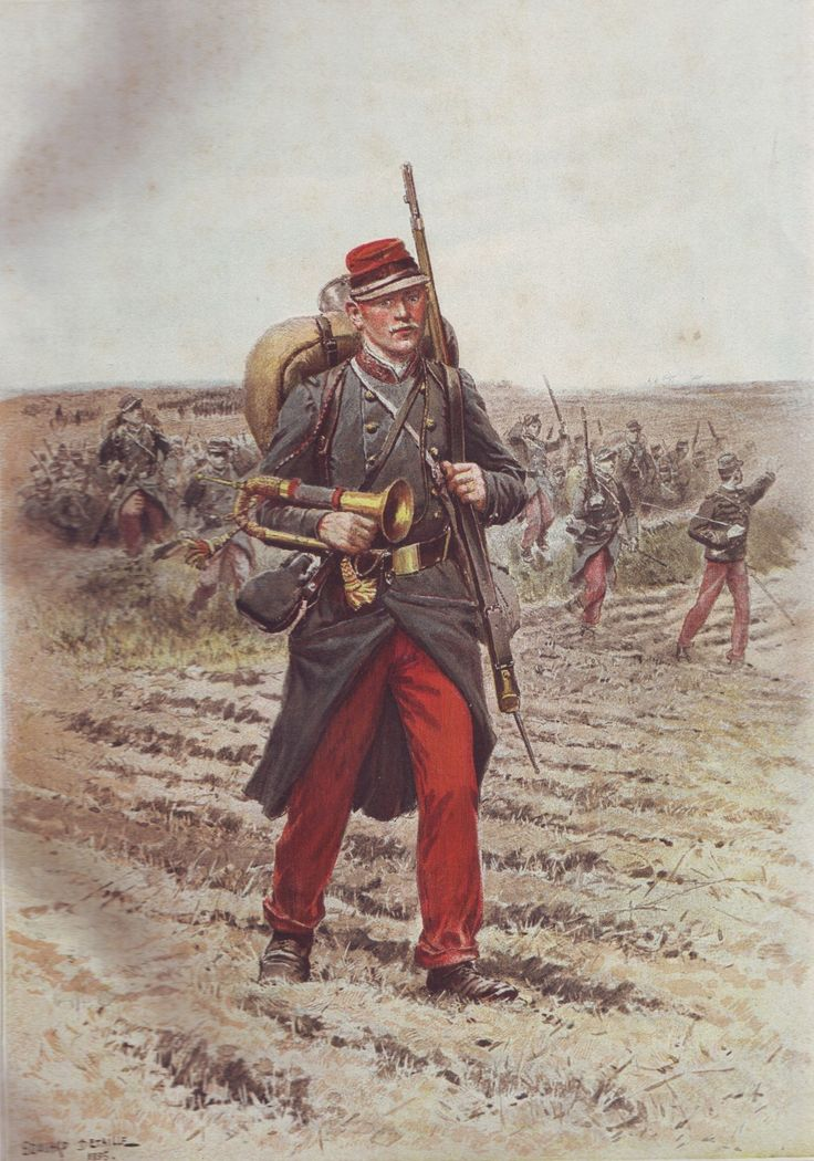 French Army 1900 Infantry Trumpeter by Édouard Detaille