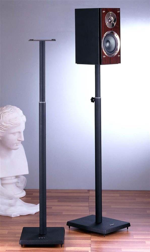 Surround Sound Speaker Stand in Black - Set of 2 [ID 73627] #VTI #Contemporary