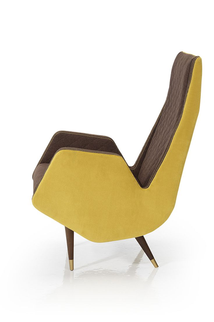 Carmela by Carmen Barasona for ECUS. A collection inspired by public transport seats from the 60's